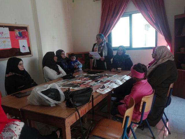 لجان المرأة الشعبية الفسطينية في مخيم نهر البارد أقامت وقفة تضامنية مع القدس