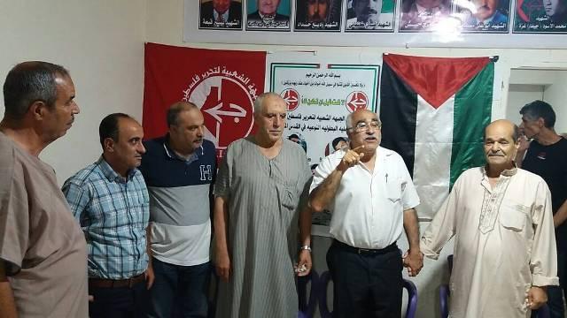 الجبهة الشعبية تتقبل التهاني بعملية القدس البطولية مخيم نهر البارد .