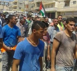 نهر البارد: مسيرة عمالية واعتصام تضامني مع غزة