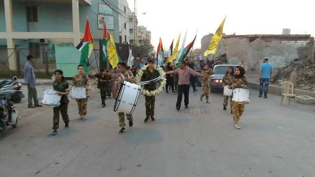 الشعبية في مخيم نهر البارد تشارك في مسيرة العيد