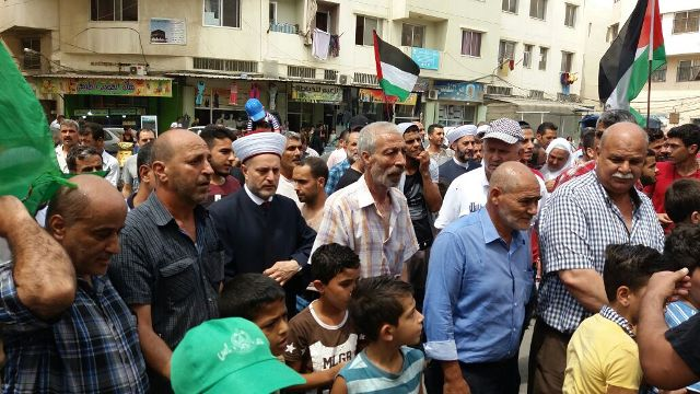 مسيرة شعبية في مخيم نهر البارد تضامنًا مع الأقصى المبارك
