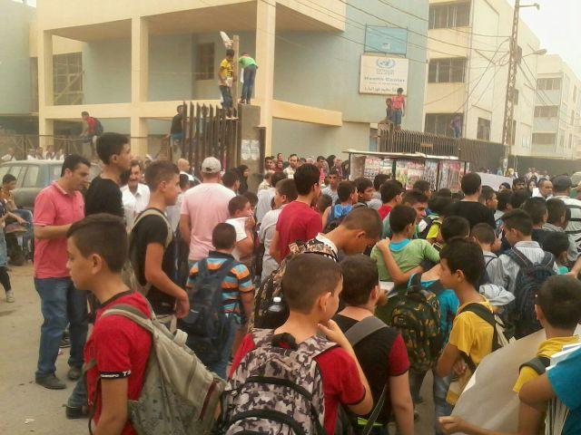 مدارس مخيم نهرالبارد ترفض قرارات «الأونروا»
