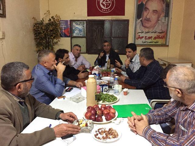 اجتماع لفصائل العمل الوطني الفلسطيني في مخيم البص
