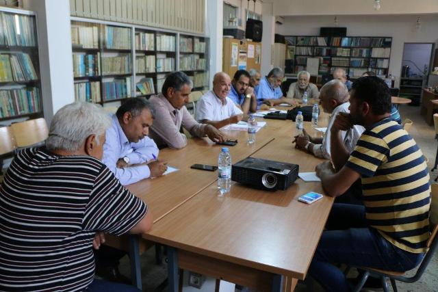 الفصائل الفلسطينية واللجان الشعبية في البداوي تلتقي وفد الأونروا القادم من عمان