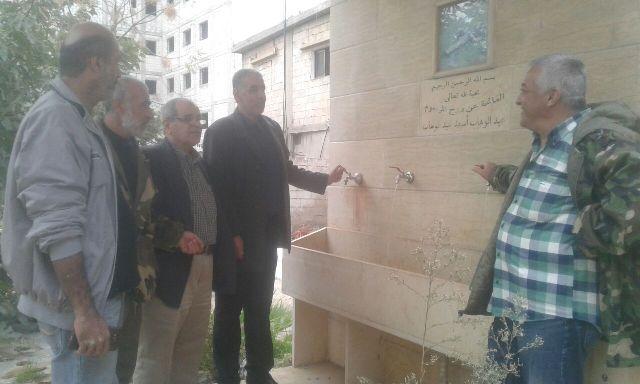 في الذكرى ال 50 لانطلاقتها، الشعبية تنفذ مشروع صيانة مصادر المياه في مقابر مخيم البداوي.