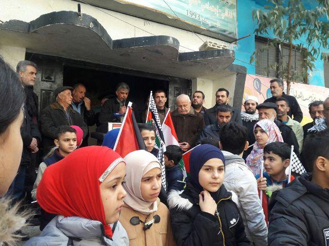 الشعبية في مخيم برج البراجنة تشارك بمسية جماهيرية غاضبة دعما للقدس
