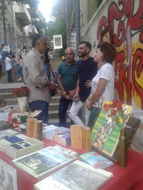 معرض صور ورسومات الأديب غسان كنفاني في الجميزة
