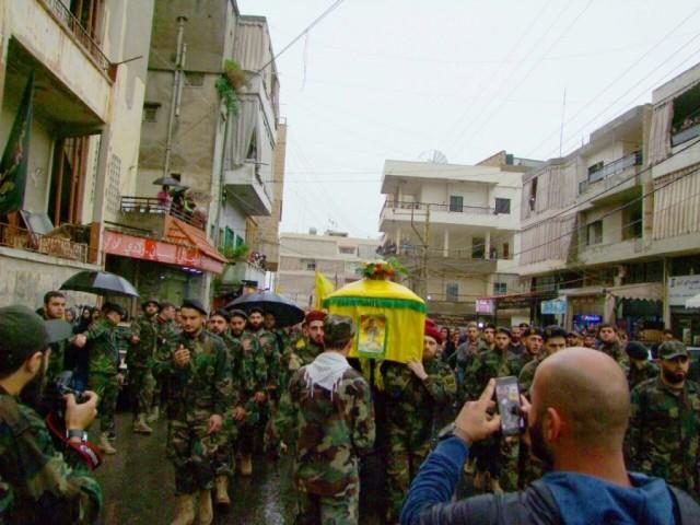 حزب الله يشيع الشهيد المجاهد بلال حسن