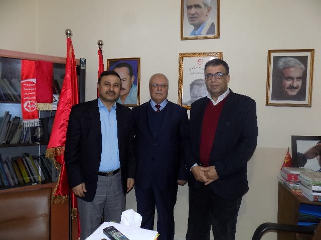 وفد من المؤتمر الشعبي لفلسطينيي الخارج يزور مكتب الشعبية في بيروت