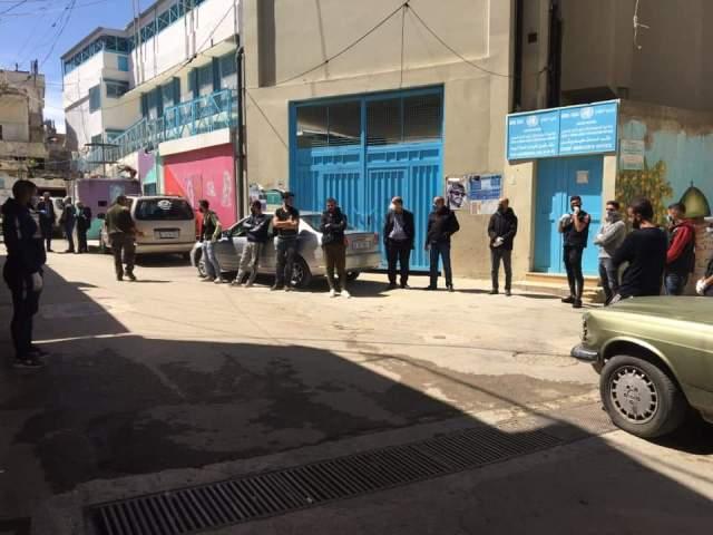 منظمة الشبيبة الفلسطينية  تتضامن مع المحجورين في مخيم الجليل في بعلبك