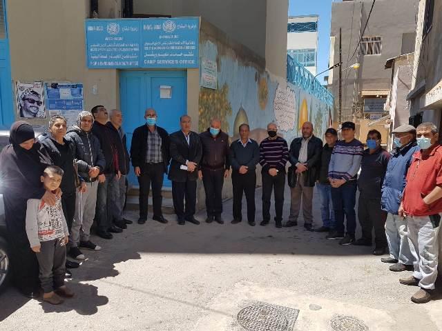 وقفة احتجاجية في مخيم الجليل على تأخير الأونروا في تقديم الخدمات للاجئين الفلسطينيين