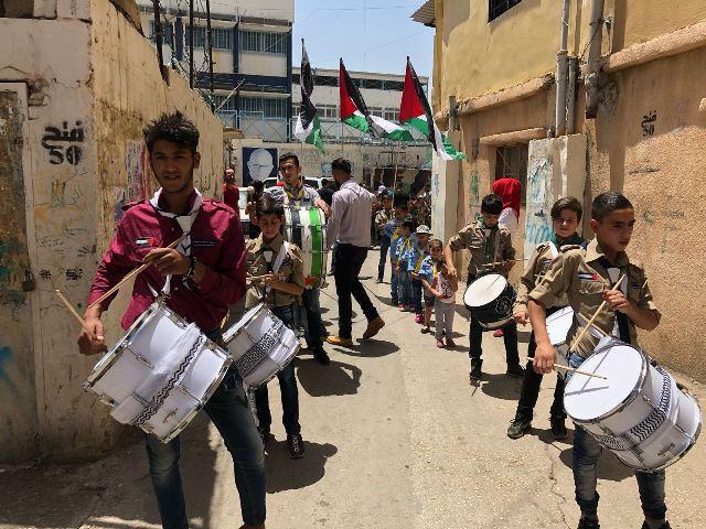 مسيرة حاشدة في مخيم الجليل إحياء ليوم القدس العالمي