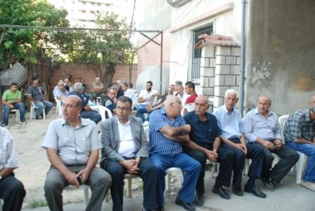منظمة التحرير الفلسطينية والجبهة الشعبية وآل الجنداوي يودعون الراحل القائد