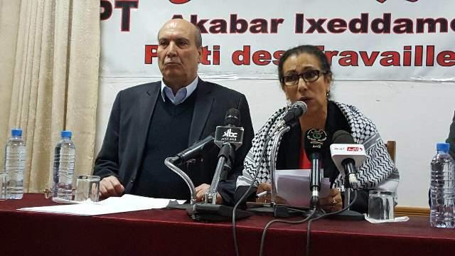 مؤتمر صحفي في مقر حزب العمال الجزائري