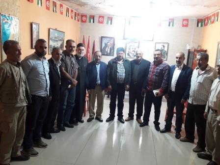 وفد من حركة أنصار الله زار الجبهة الشعبية في مخيم عين الحلوة