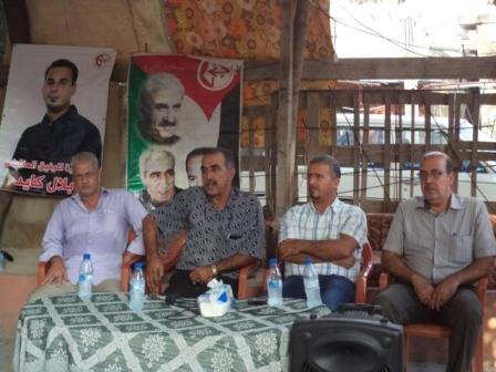 الأسير المحرر أنور ياسين في لقاء لدعم الأسير بلال كايد ورفاقه
