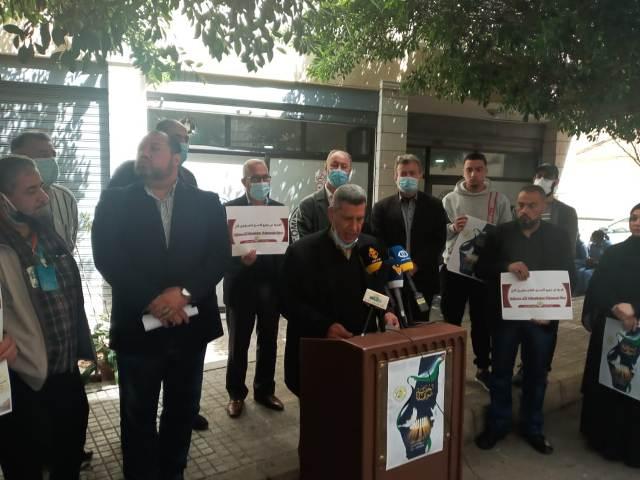 اعتصام أمام مقر الصليب الأحمر في الحمرا تضامناَ مع الأسرى الفلسطينيين