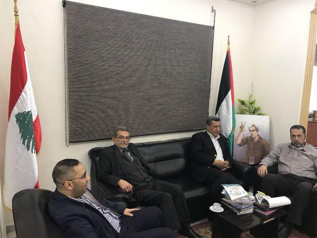 وفد من لجنة الأسرى في الجبهة الشعبية لتحرير فلسطين يزور الحملة الدولية للتضامن مع الأسرى