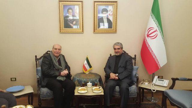 وفد من الجبهة الشعبية يلتقي سفير الجمهورية الإسلامية الإيرانية بدمشق