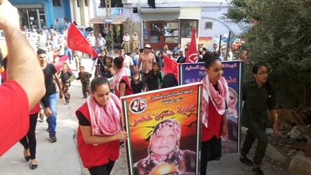 الجبهة الشعبية لتحرير فلسطين تشيّع المناضلة عذبة خضر في مخيم برج الشمالي
