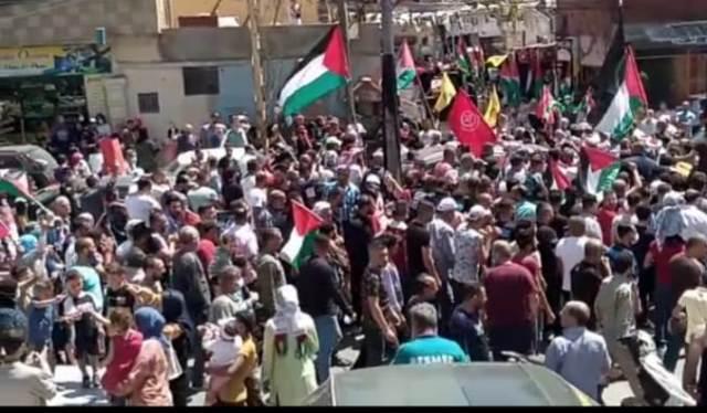 الجبهة الشعبية لتحربر فلسطين تشارك في مسيرة الوفاء لفلسطين وانتصارا لانتفاضة الاقصى في بعلبلك الهرمل