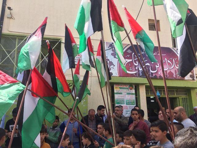 جمعة إحراق علم الصهاينة  ورفع علم فلسطين في بعلبك