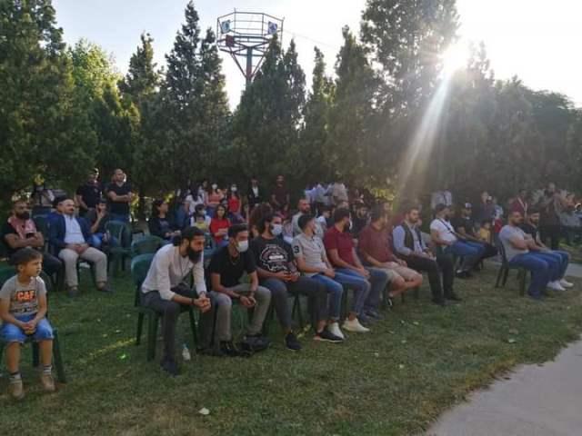 منظمة الشبيبة الفلسطينية تشارك اتحاد الشباب الديمقراطي بتكريم  أحد شهدائه