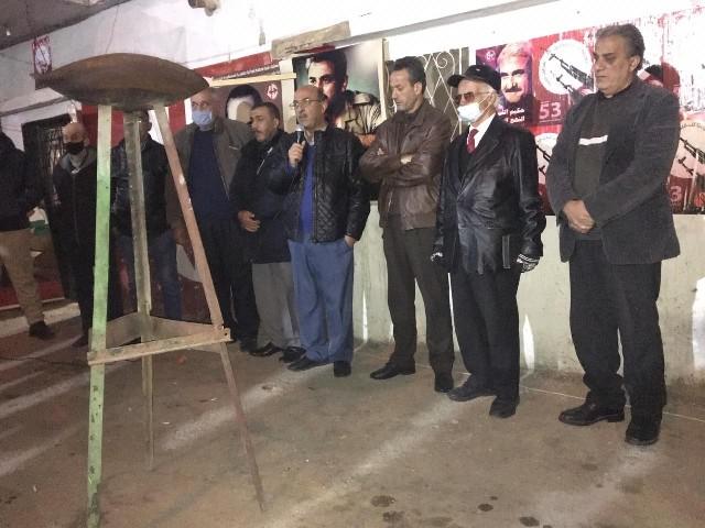 الجبهة الشعبية لتحرير فلسطين في البقاع  تحيي ذكرى انطلاقتها الثالثة والخمسين بإيقاد شعلة الانطلاقة