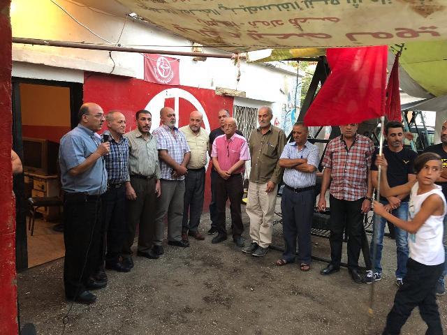 الشعبية في البقاع تقيم اعتصامًا في الذكرى الثامنة عشرة لاستشهاد القائد ( أبو علي مصطفى)