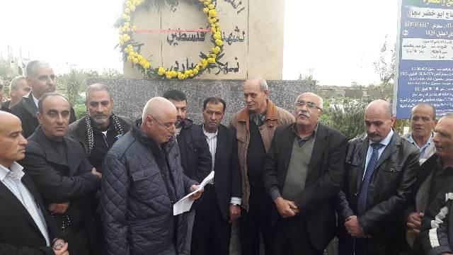 الشعبية في البارد تضع إكليلا من الزهور على النصب التذكاري لشهداء الثورة الفلسطينية