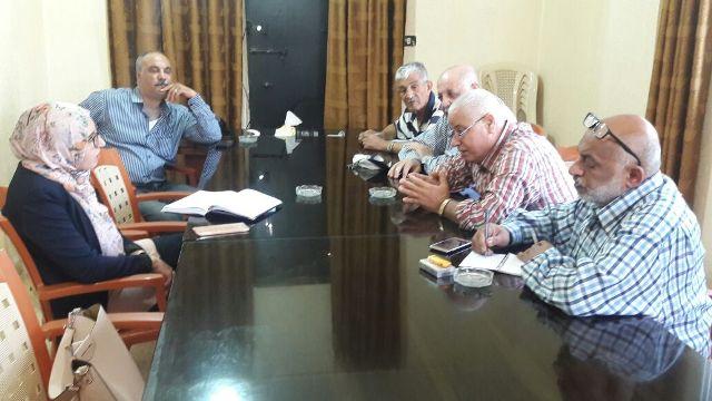 اجتماع للجنة ملف إعمار مخيم نهر الباردمع ممثلةلجنة الحوار اللبناني الفلسطيني