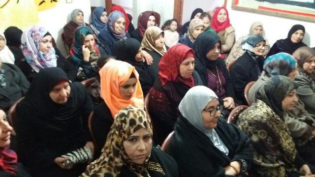 لجان المرأة الشعبية الفلسطينية في مخيم نهر البارد تحتفي بيوم المرأة العالمي