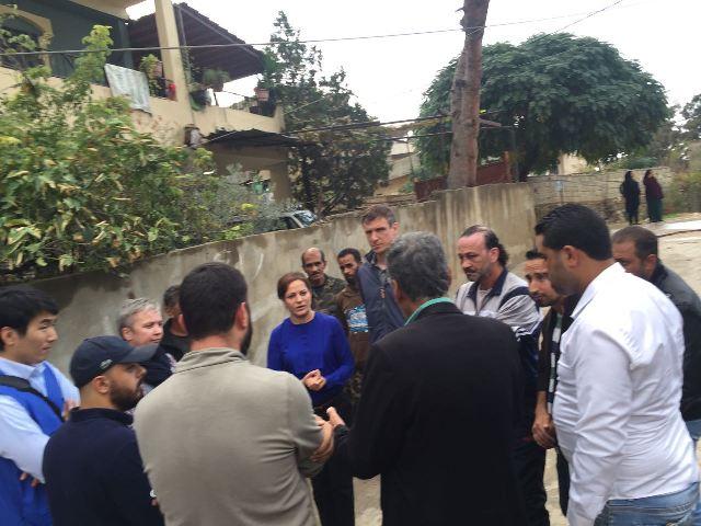 وفد من الحكومة السويسرية وال UNDP  زار المنطقة المجاورة لمخيم البداوي