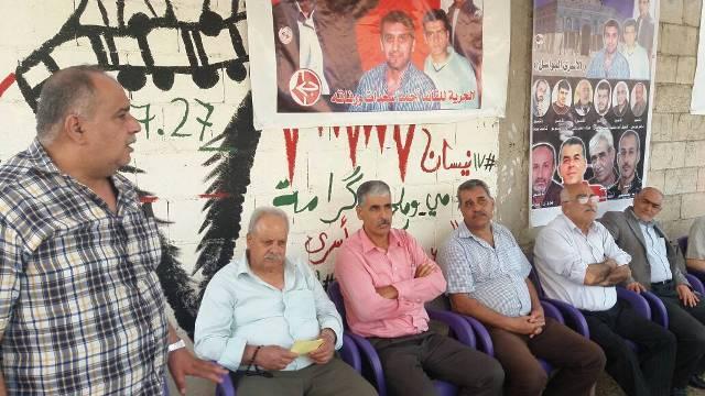 فاعليات اليوم الثالث في خيمة التضامن مع الأسرى في مخيم نهر البارد