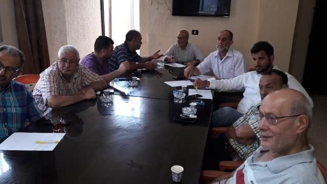 لجنة ملف نهر البارد الميدانية واللجنة الشعبية تعقدان اجتماعًا مع المهندس التنفيذي لمشروع البنى التحتية