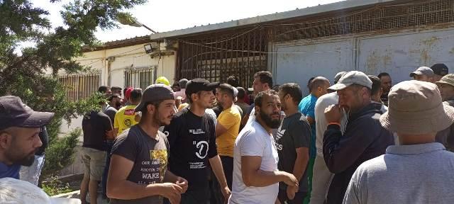 اعتصام للعمال في مخيم نهر البارد