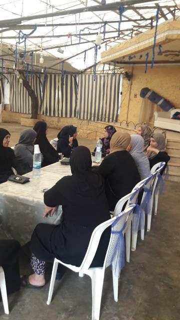 لجان المرأة الشعبية للفلسطينية في نهر البارد تقيم ندوة سياسية في نهر البارد