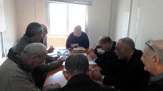 اللجنة الميدانية لملف إعمار مخيم نهر البارد  واللجنة الشعبية عقدتا اجتماعًا مع السيد جون وايت