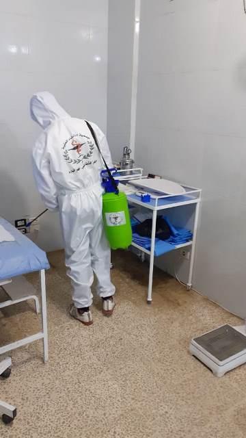 مركز جمعية الشفاء الطبية في جولة تعقيم محلية بمخيم نهر البارد