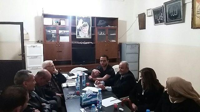 اللجنة التحضيرية للاتحاد العام للكتاب والأدباء الفلسطينيين تجتمع في مخيم البداوي