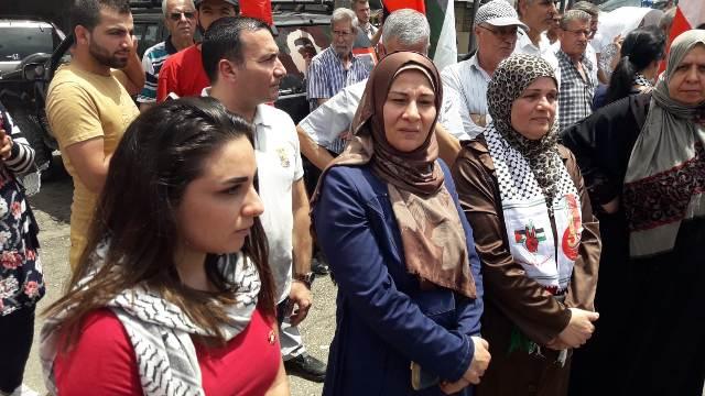 الشيوعي يقيم وقفة تضامنية في الشمال تنديدًا بالاعتداءات الصهيونية ضد الشعب الفلسطيني