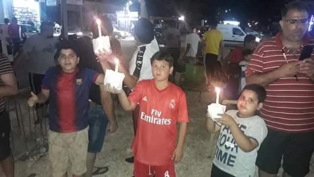 نادي النصر الرياضي يقيم وقفة احتجاجية ضد قرار وزير العمل اللبناني
