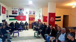الجبهة الشعبية لتحرير فلسطين في مخيم نهر البارد تتقبل التعازي برحيل قائدها الوطني عبد الرحيم ملوح