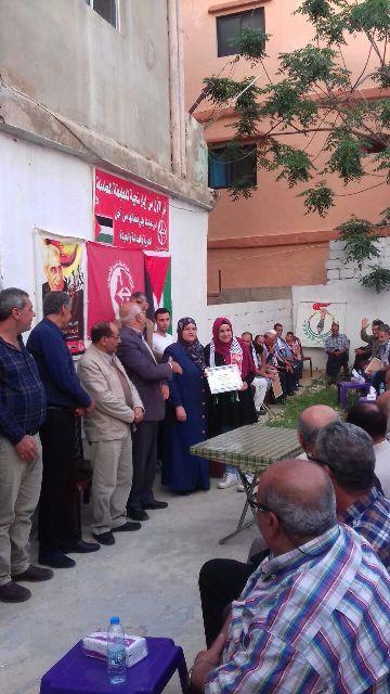 اللجان العمالية الشعبية الفلسطينية تحتفل بعيد العمال العالمي في مخيم نهر البارد