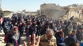 مسيرة طالبية في ذكرى وعد بلفور في مخيم نهر البارد