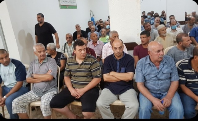 تأبين المرحوم المناضل الحاج  يوسف أحمد حامد  ابو سميح في مخيم نهر البارد