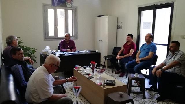 اللجان الشعبية تجتمع مع لجنة النازحين الفلسطينيين من سوريا في مخيم البداوي