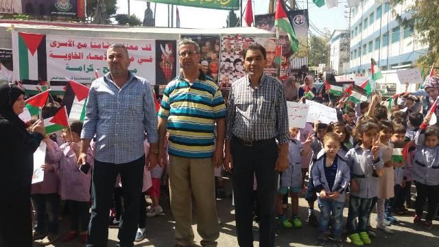 فاعليات خيمة التضامن مع الأسرى في مخيم البص
