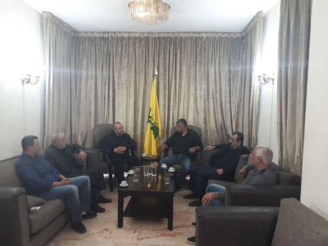 وفد من الشعبية في بيروت زار نائب مسؤول الملف الفلسطيني في حزب الله الشيخ عطا الله حمود