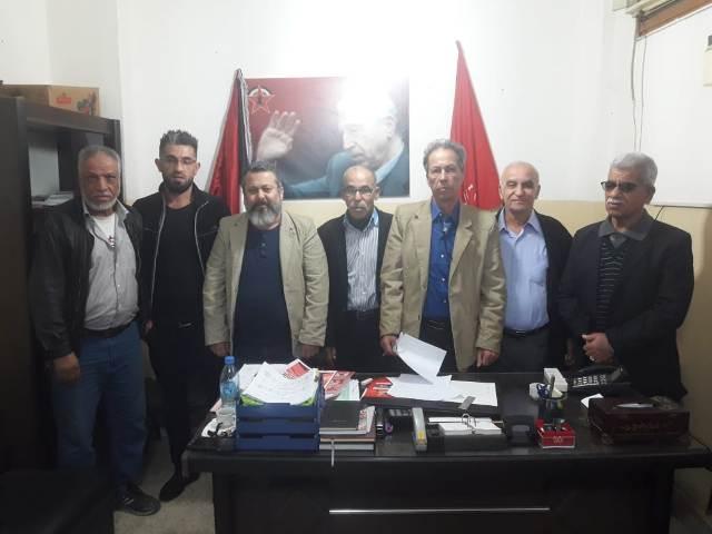 بيان صادر عن المكتب الإداري لاتحاد نقابات عمال فلسطين – منطقة صيدا